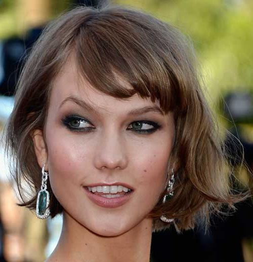 New Cute Hairstyles For Short Wavy Hair | Short Hairstyles 2016 Inside Karlie Kloss Short Haircuts (View 18 of 20)