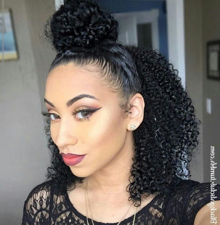 Newest Black People Long Hairstyles Intended For Best 25+ Cute Natural Hairstyles Ideas On Pinterest | Natural Hair (View 18 of 20)