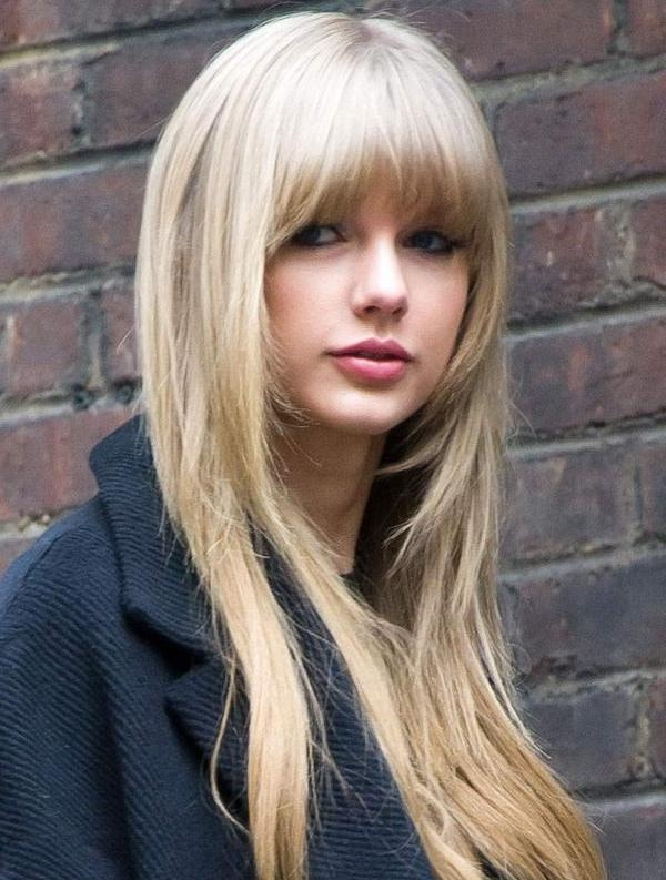 Newest Cute Long Haircuts With Bangs Inside Cute Taylor Swift Long Hairstyles With Bangs | Styles Time (View 6 of 15)
