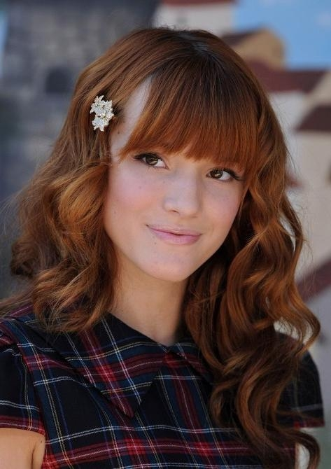 Newest Cute Long Hairstyles With Bangs Throughout 2013 Hairstyles For Girls: Cute Long Hairstyle From Bella Thorne (View 19 of 20)