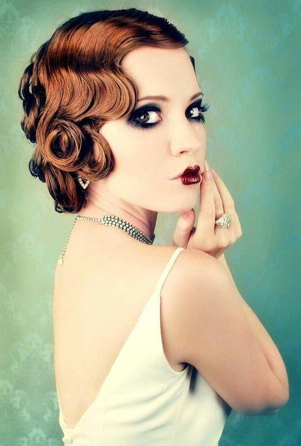 Newest Flapper Girl Long Hairstyles Intended For 140 Best Pretty Updo Images On Pinterest | Hairstyles, Lip Makeup (View 18 of 20)