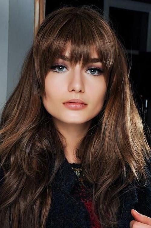 Newest Full Fringe Long Hairstyles With Best 25+ Bangs Long Hair Ideas On Pinterest | Fringe Bangs, Long (View 16 of 20)