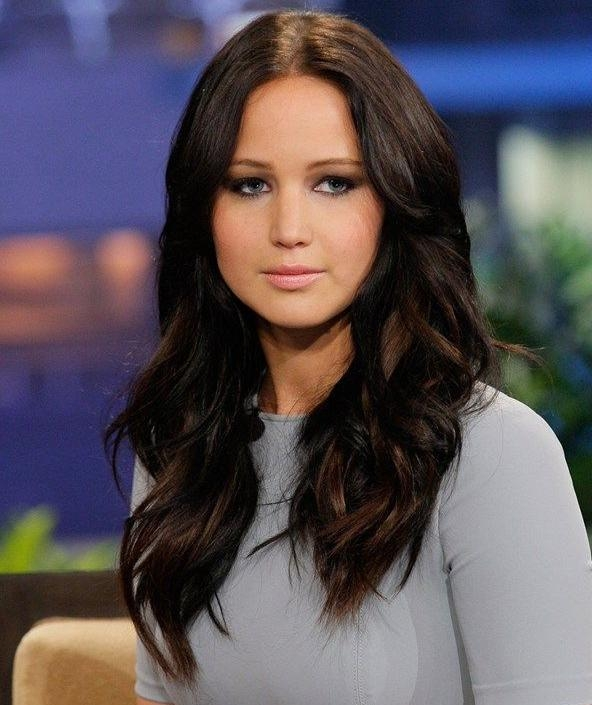 Newest Jennifer Lawrence Long Hairstyles Throughout Jennifer Lawrence Long Wavy Hairstyles | Full Dose (View 20 of 20)