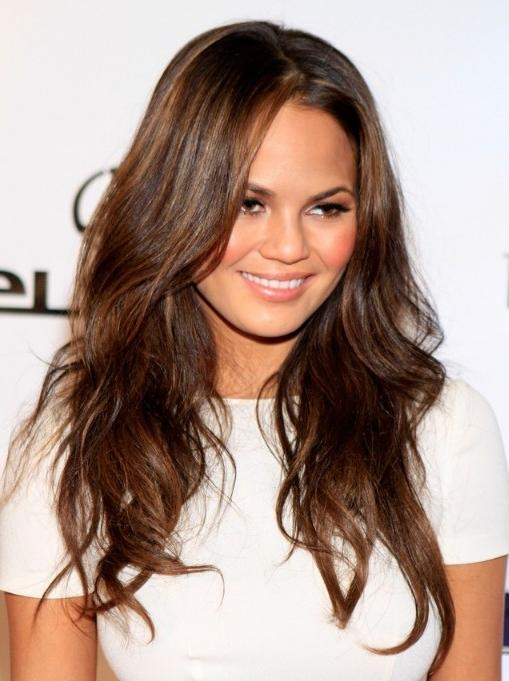 Newest Layered Long Haircut Styles Pertaining To Long Layered Hairstyle  With Rumpled Waves U2013 Hairstyles Weekly