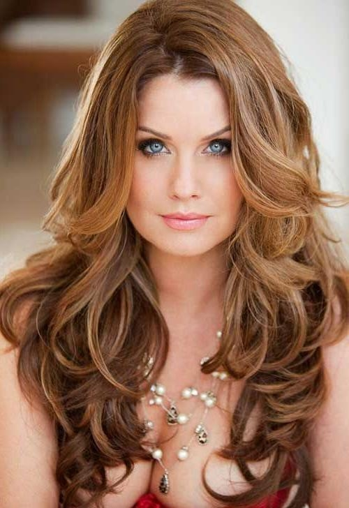 Newest Long Haircuts For Wavy Hair For Best 25+ Long Wavy Haircuts Ideas On Pinterest | Cute Mom Haircuts (View 3 of 15)