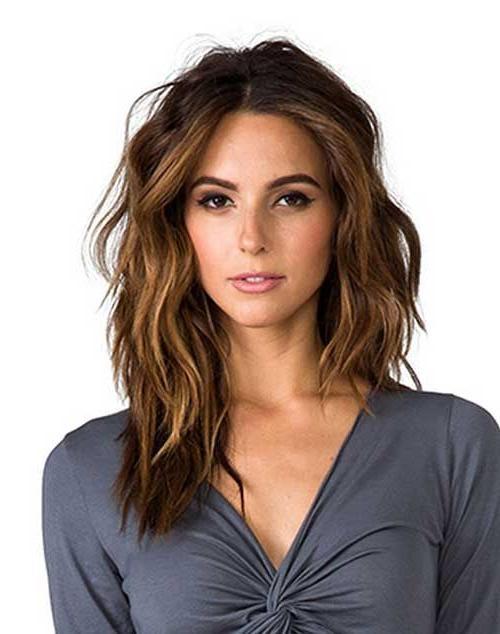 Newest Long Haircuts For Wavy Hair Regarding Best 25+ Long Wavy Haircuts Ideas On Pinterest | Cute Mom Haircuts (View 7 of 15)