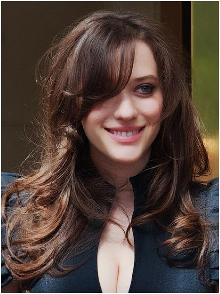 Newest Long Haircuts For Wavy Hair With Regard To Wavy Hairstyles For Long Hair With Bangs – Popular Haircuts (View 12 of 15)