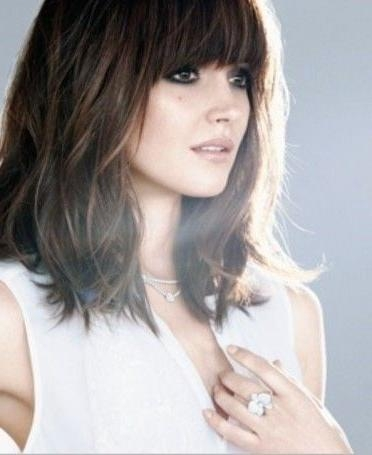 Newest Long Haircuts With Fringe Pertaining To Best 25+ Long Bob With Fringe Ideas On Pinterest | Bob With Fringe (View 14 of 15)