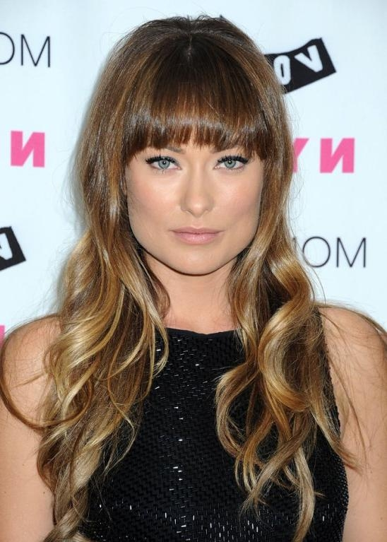 Newest Long Hairstyles For Square Faces With Bangs Pertaining To Bang Hairstyle For A Square Face (View 13 of 15)