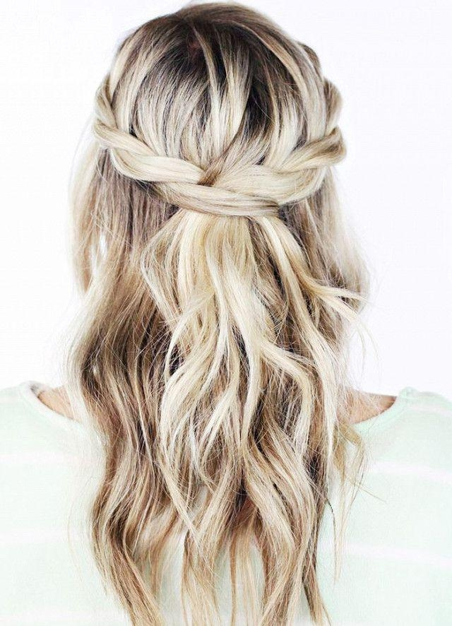 Newest Long Hairstyles Formal Occasions Pertaining To Best 25+ Braids Medium Hair Ideas On Pinterest | Mid Length (View 16 of 20)