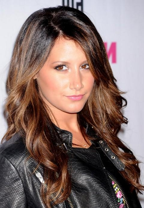 Newest Long Hairstyles Side Part Throughout Ashley Tisdale Long Hairstyle: Curls With Side Part – Pretty Designs (View 9 of 20)