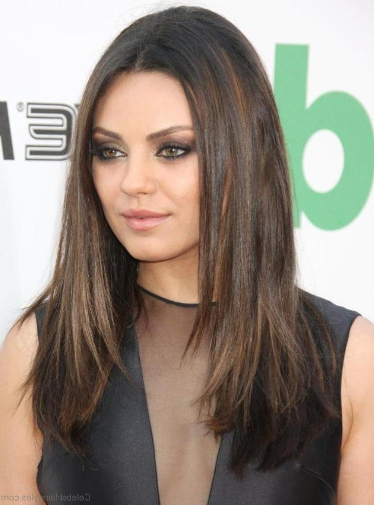 Newest Mila Kunis Long Hairstyles In 51 Lovely Hairstyles Of Mila Kunis (View 14 of 15)