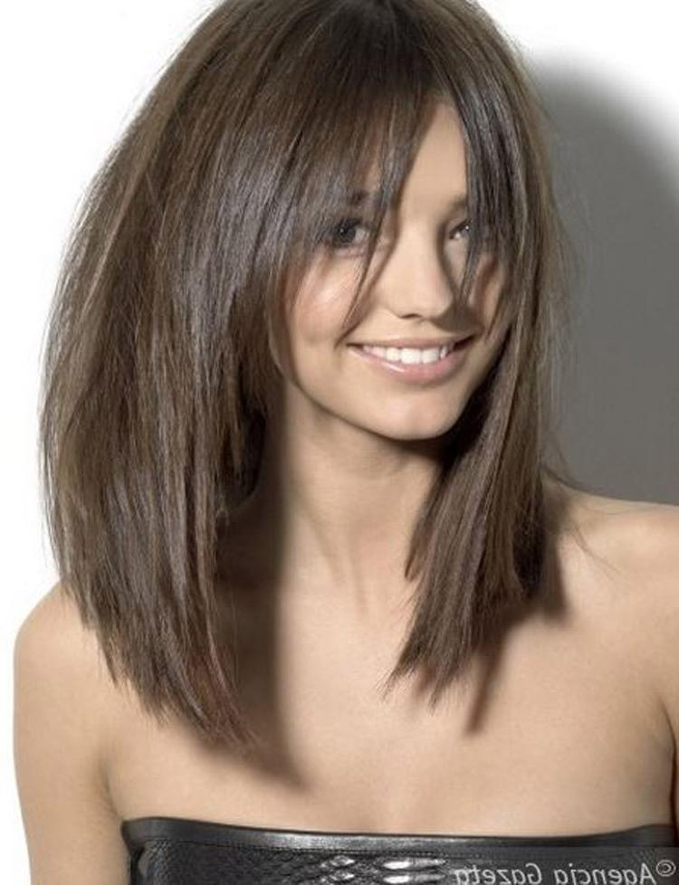 Newest Razor Long Haircuts In Long Razor Cut Brunette Bob With Bangs Hair Pinterest – Cartonomics (View 13 of 15)