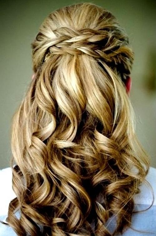 Newest Wedding Half Up Long Hairstyles Intended For Half Up Wedding Hairstyles – Half Up Half Down Wedding Hairstyle (View 16 of 20)