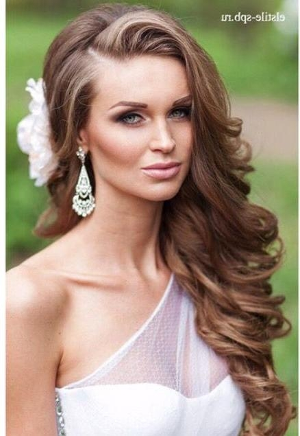 Newest Wedding Long Down Hairstyles Throughout Best 25+ Bridal Hairstyles Down Ideas On Pinterest | Bridal Hair (View 18 of 20)