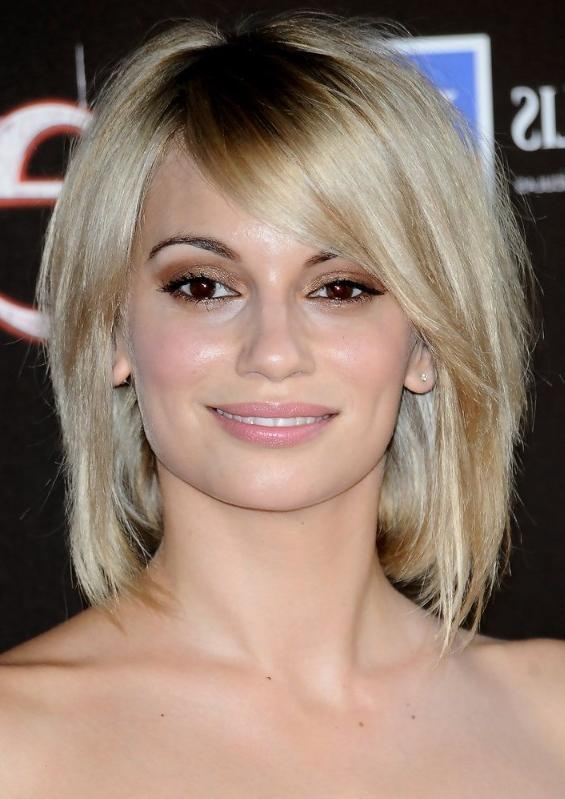 Norma Ruiz Short Hairstyle With Long Side Swept Bangs – Hairstyles Intended For Short Haircuts With Side Fringe (View 14 of 20)