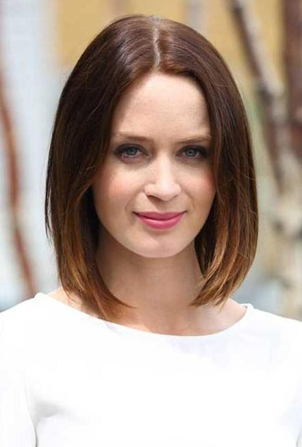 Ombred Bob Hairstyle – Classic Center Parting Short Bob Hairstyle Throughout Center Part Short Hairstyles (View 9 of 20)