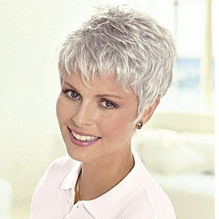 Patients Wigs, Short Wigs, Monofilament Wigs, Wigs For Women – Tlc For Short Hairstyles For Grey Haired Woman (View 17 of 20)