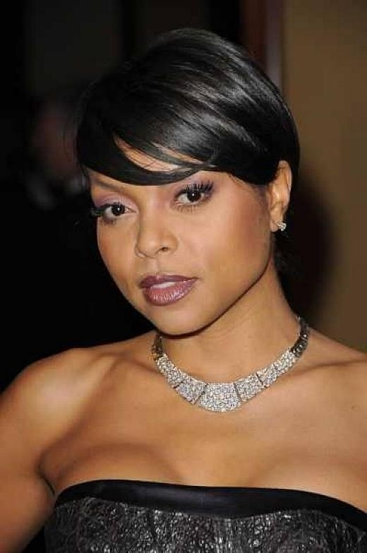 Photo Gallery Of Short Haircuts For Black Women With Round Faces Pertaining To Sexy Short Haircuts For Black Women (View 14 of 20)