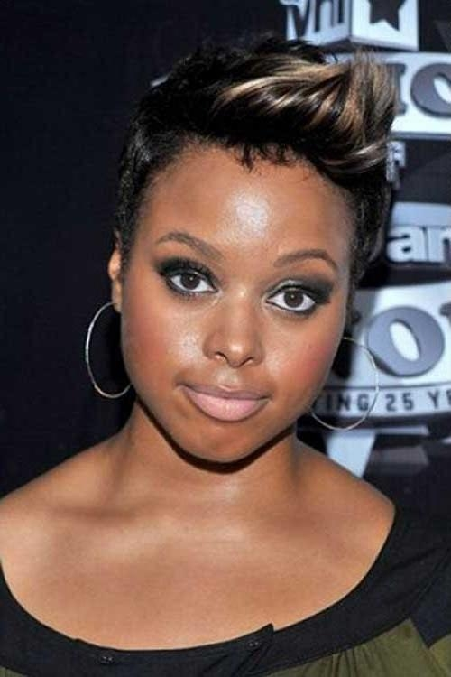 Photo Gallery Of Short Haircuts For Black Women With Round Faces Within Short Haircuts For Round Faces Black Hair (View 14 of 20)
