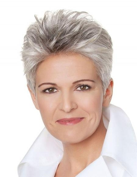 Photos Of Short Haircuts For Older Women | Short Hairstyles 2016 Pertaining To Short Haircuts For Women With Grey Hair (View 14 of 20)