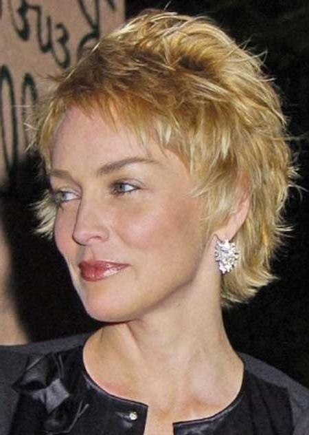 Pictures Of Celebrity Short Hairstyles | Short Hairstyles 2016 In Sharon Stone Short Haircuts (View 12 of 20)