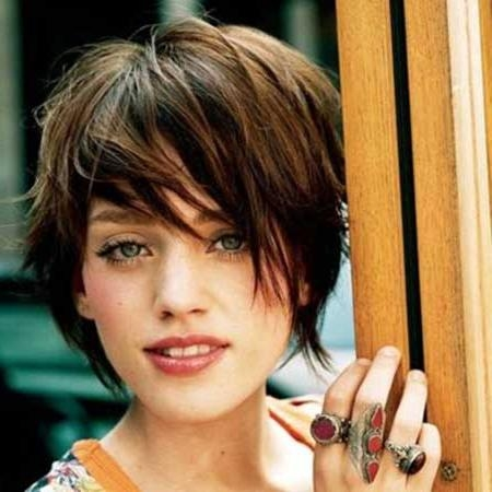 Pictures Of Short Haircuts With Bangs | Short Hairstyles 2016 In Short Haircuts With Wispy Bangs (View 5 of 20)