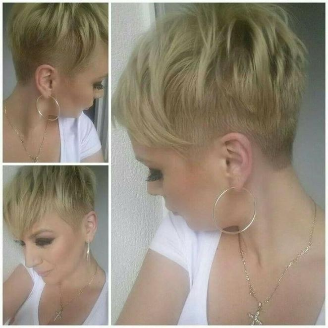 Pictures Of Short Hairstyles Woman | Hairjos Inside Short Haircuts With One Side Shaved (View 17 of 20)