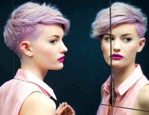 Pink Pixie Cut Hairstyle | Short Hairstyles 2016 – 2017 | Most With Pink Short Hairstyles (View 10 of 20)