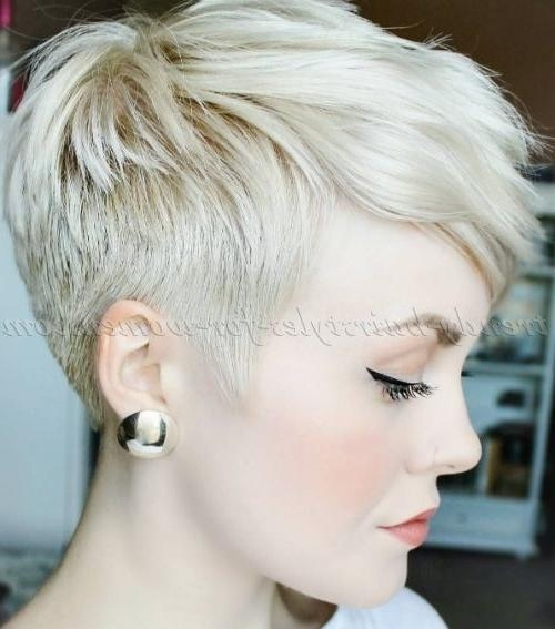 Pixie Cut For Blonde Hair … | Pinteres… With Regard To Short Hairstyles Cut Around The Ears (View 13 of 20)