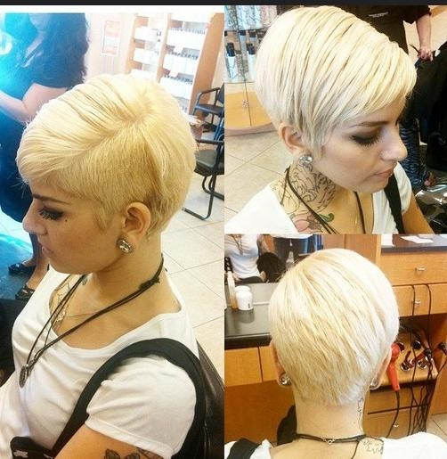 Pixie Haircut With One Side Shaved: Layered, Straight Short Throughout Part Shaved Short Hairstyles (View 15 of 20)