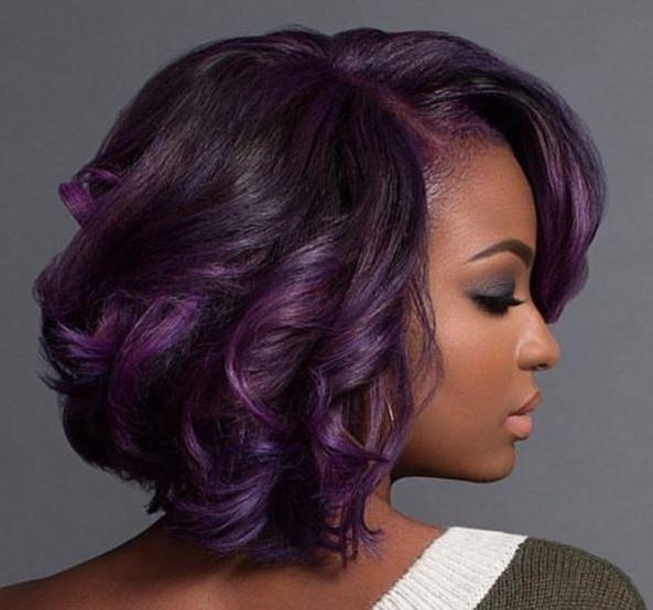 Purple And Fab! With @macleantemu – Http://community For Purple And Black Short Hairstyles (View 13 of 20)