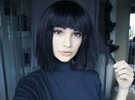 Photo Gallery of Short Hairstyles With Blunt Bangs (Viewing 18 of 20 ...