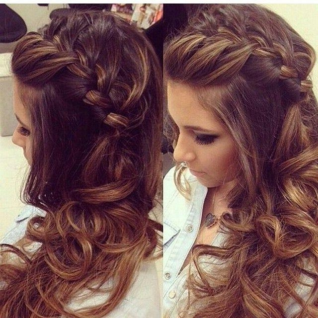 Recent Curly Long Hairstyles For Prom Inside Hair From Long Hair Braided Hairstyles With Curls Prom Long (View 7 of 15)