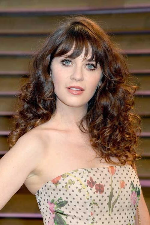 Recent Curly Long Hairstyles With Bangs Within Long Curly Hairstyles With Bangs (View 20 of 20)
