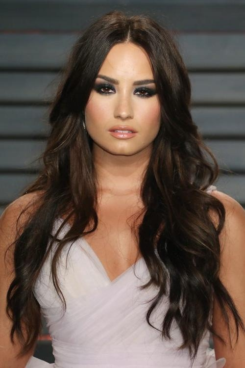 Recent Demi Lovato Long Hairstyles Throughout Demi Lovato's Hairstyles & Hair Colors | Steal Her Style | Page  (View 14 of 15)