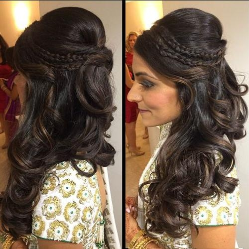 Recent Indian Bridal Long Hairstyles Within Best 25+ Indian Wedding  Hairstyles Ideas On Pinterest |