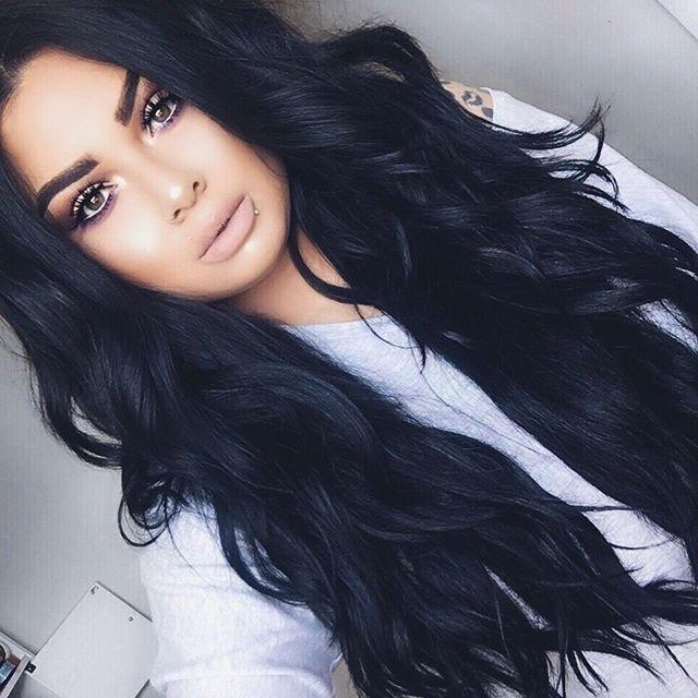 Recent Long Hairstyles For Black Hair Inside Best 25+ Long Black Hair Ideas On Pinterest | Raven Hair Color (View 15 of 20)