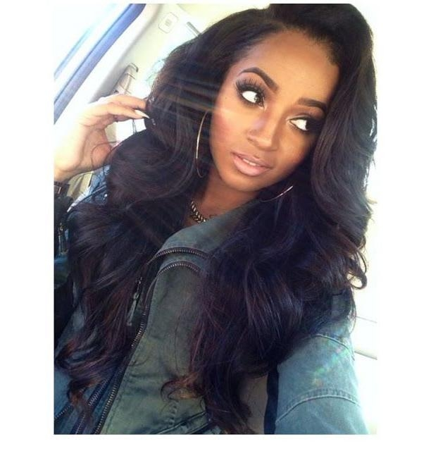 Recent Long Hairstyles For Black Woman Pertaining To Long Waves Weave Hairstyle Http://www (View 17 of 20)