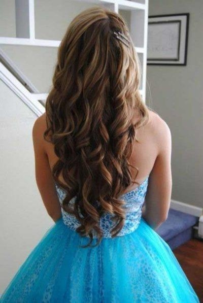 Recent Long Hairstyles For Dances For The Most Elegant And Beautiful Curly Hairstyles For Dances For (View 19 of 20)