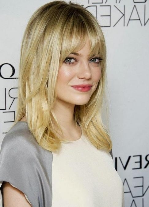 Recent Long Hairstyles For Fine Hair With Bangs In 10 Trendy Ideas For Medium Hairstyles With Bangs – Popular Haircuts (View 18 of 20)