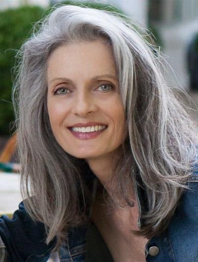 Recent Long Hairstyles For Gray Hair Pertaining To 25+ Beautiful Long Gray Hair Ideas On Pinterest | Grey Hair Streak (View 14 of 15)