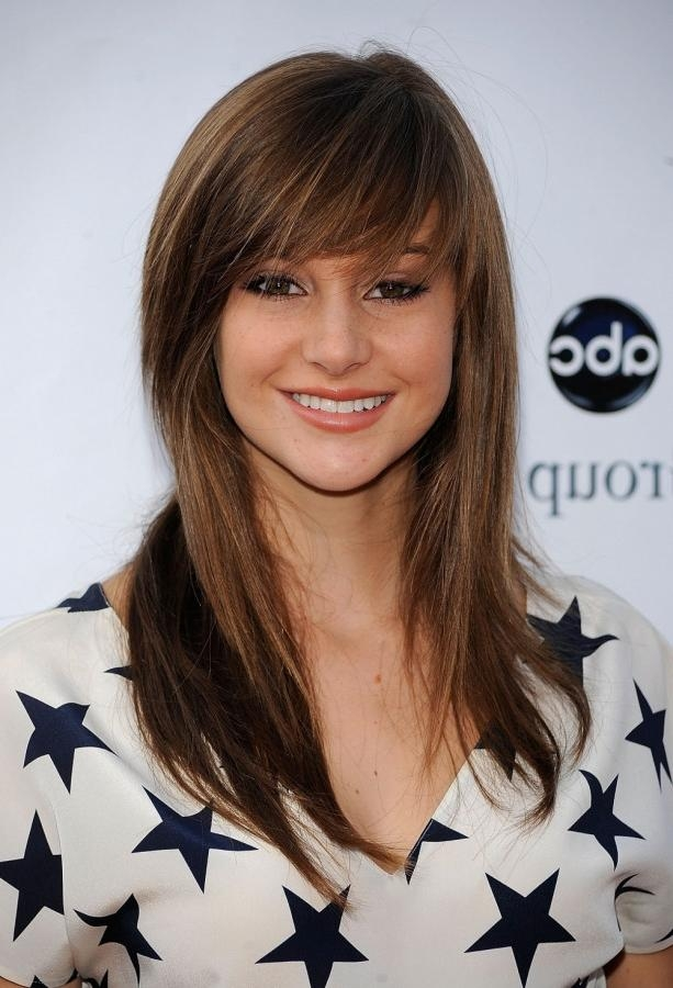 Recent Long Hairstyles For Square Faces With Bangs Inside Full Side Swept Bangs For Square Face – Women Hairstyles (View 4 of 15)