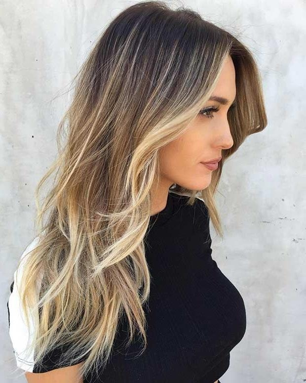 Photo Gallery Of Long Hairstyles For Thin Straight Hair Viewing 19