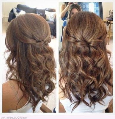 Recent Long Hairstyles Formal Occasions Pertaining To Half Up Half Down Hair With Curls Prom Hairstyles For Medium (View 20 of 20)