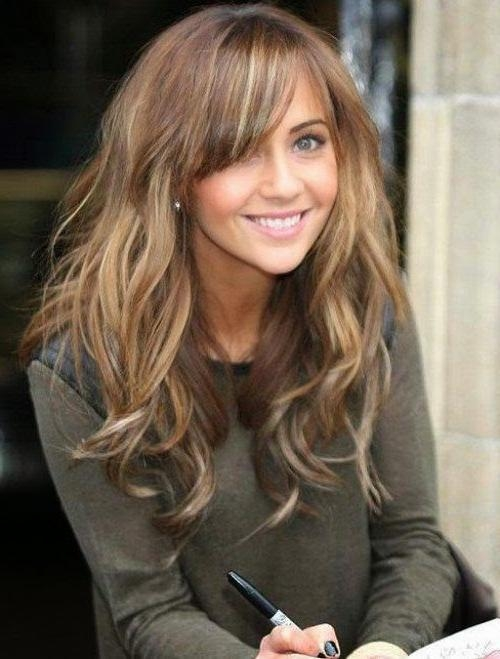 Recent Long Hairstyles With A Fringe With Regard To Hairstyles With Long Bangs And Get Ideas How To Change Your Hairstyle (View 13 of 20)
