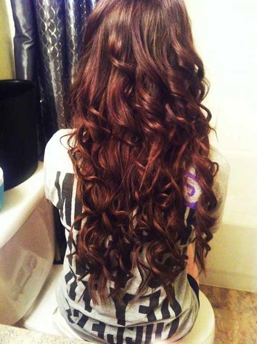 Recent Long Hairstyles With Layers And Curls Pertaining To 35 Long Layered Curly Hair | Hairstyles & Haircuts 2016 – (View 7 of 20)