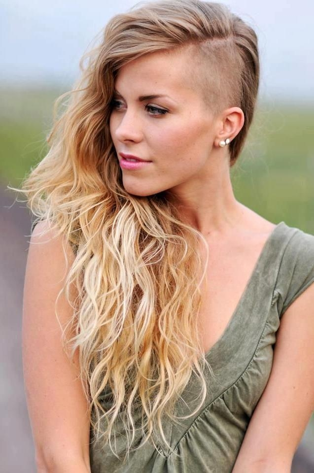 Recent Shaved Side Long Hairstyles With Regard To Best 25+ Long Hair Shaved Sides Ideas On Pinterest | Shaved Long (View 20 of 20)