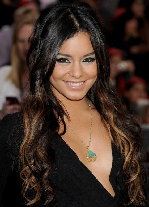 Recent Vanessa Hudgens Long Hairstyles Pertaining To Vanessa Hudgens Long Hairstyle: Highlighted Curls – Pretty Designs (View 19 of 20)