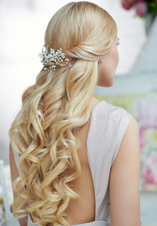 Recent Wedding Half Up Long Hairstyles For Half Up Wedding Hairstyles – Half Up Half Down Bridal Hairstyle (View 18 of 20)